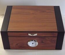 Guardsman Two Tone Mahogany Black 60 Cigar / Count Humidor External Hygrometer