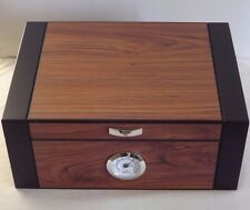 Guardsman Two 2 Tone Mahogany Black 60 Cigar  Count Humidor External Hygrometer