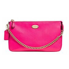 Coach Wristlet F53340 Pebble Large Pink Ruby Agsbeagle #COD Paypal