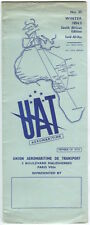 UAT AEROMARITIME TIMETABLE WINTER 1954/55 NO.25 SOUTH AFRICA EDITION U.A.T.