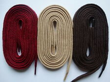 3 Pairs Laces thick flat 105cm Maroon Beige Brown - canvas trainer skater vans