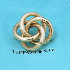 NYJEWEL TIFFANY & CO 14K Gold Vintage Infinity Love Knot Large Pin Brooch 30mm