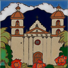Handpainted Ceramic Tile Mission Santa Barbara/painting/wall decor/installation
