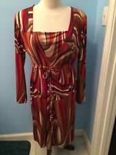 Urban Mango Women's Dress SZ Large, Long Sleeve, Geometric Print NWT