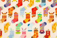 Pocket Monster Pokemon Pikachu Character Fabric Socks made in Korea by the Yard
