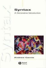 Syntax: A Generative Introduction (Wiley Desktop Editions), Carnie, Andrew, Acce