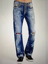 TRUE RELIGION RICKY SUPER-T MEN JEAN DCJD INDIGO ANTHEM M859NWY1 NWT 38W $399