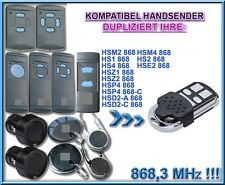 Hörmann 868,3 MHz kompatibel handsender Klone sender (NOT MADE BY Hörmann!)
