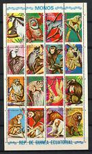 Guinea equatoriale 1974 SCIMMIE PERF SHIFT errore CTO USATO foglio #A 62488