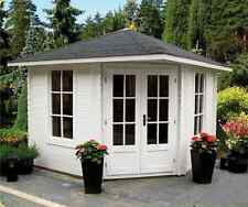 Log cabin /five corner 10ft x 10ft 40mm FREE shingle tiles *QUICK DELIVERY*