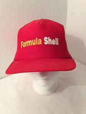 FORMULA SHELL TRUCKER SNAP BACK MESH RED BASEBALL CAP SHELL OIL MADE IN USA