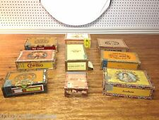 9 Vintage Wood Cigar Boxes Monte Cruz ~ Crem-o ~ Little Cuestas~ La Aurora