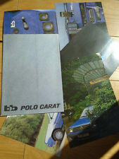 VW Polo Carat bb brochure c1982