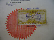 PHILIPPINES STAMP DOCUMENT Japanese JAPAN Occupation 1944  REGISTER of DEEDS