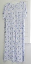 Aria Womens White Blue Floral Short Sleeve Nightgown A29117817 Sz 2X - NWT