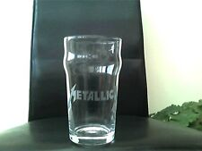 Metallica Personalised Etched Engraved Beer Pint Glass