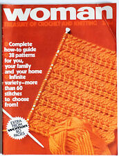 WOMAN: Treasury of Crochet and Knitting 1970, 38 patterns, 80 pages.