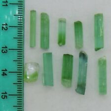 20.4 ct lot Blue Green Tourmaline 80% terminated crystals Afghanistan