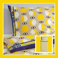 "IKEA Twin GLÖDANDE Yellow Eyes Duvet Cover Set Pillowcase""WonderMooi""Glodande"