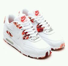 NIKE WMNS AIR MAX 90 QS London Eton Mess Size 10 813150 100 White/Chilling Red