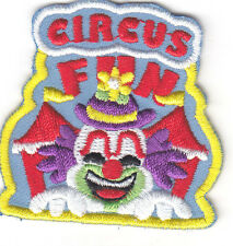"""CIRCUS"" w/CLOWN PATCH/Iron On Embroidered Applique/Amusement, Fun, Games, Clown"