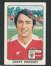 * Bristol City-Gerry Sweeney * Panini Fútbol 79 - 86 * Pegatina