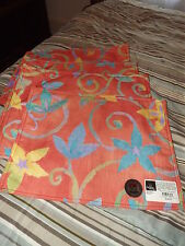 4 NEW ORANGE REVERSIBLE PLACEMATS BY HOMEWEAR NWT 17X13 SCOTCHGUARD