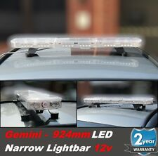 Gemini 924mm Mini Led Recovery Narrow Lightbar Beacon Bolt Mount