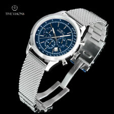 Invicta Men's 45mm Speedway Blue Dial Chronograph Steel Mesh Bracelet Watch