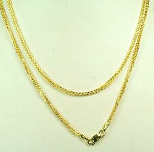 14K solid yellow gold light weight looking thick double Rolo chain 3.2 gram