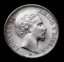2 mark Baviera 1883 el rey Luis II jg 41 ** azar rareza ** KB 1