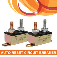 2 x 50A 12v Auto Automatic Reset Circuit Breaker 50 Amp Fuse Stud Bolt Type