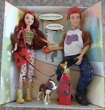 NEW My Scene Barbie Dolls Out and About Chelsea Hudson & 2 Dogs - NIB