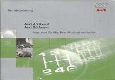 AUDI A6 S6 Avant Betriebsanleitung 1996 Bedienungsanleitung Handbuch C4 BA