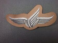 Bundeswehr Fallschirmspringerabzeichen BW weiß auf khaki Schwinge mit Abzweig