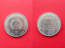 East German 5 Mark Commemorative coin 1983 Luther Birthplace Eisleben silver