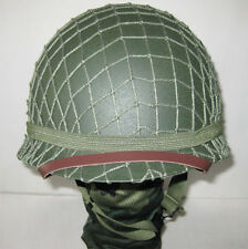 Steel Collectable US Army M1 Green Helmet WWII Replica With Net Perfect *