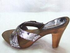 Sexy scarpe sandalo zoccoli nero argentato tacco alto 11cm con strass n.38