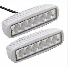2pcs 12V/24V 18W WORK WHITE LED WATERPROOF MARINE FLOOD - BOAT/CARAVANG LIGHT