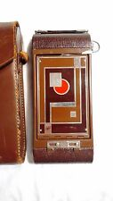 Walter Dorwin Teague Art Deco No. 1A Gift Kodak  Folding Camera & Leather Case