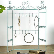 Jewellery Hanger Holder Stand Metal Shabby Chic Necklace Earrings Bracelet