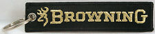 Browning Embroidered Key Chain, Firearms, Rifle key fob, 4.5 inches