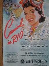 Moore-McCormack Carnival in Rio cruise advert 1941