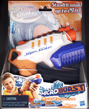 NERF SuperSoaker Microburst Stealth Soak up to 29 feet! Squirt Water Toy Gun NEW