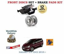 FOR FORD GALAXY 2.0TD TDCi  2010--  FRONT BRAKE DISCS SET AND DISC PADS KIT