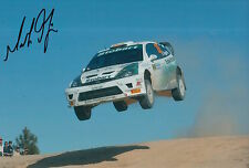 Mark Higgins Hand Signed 12x8 Photo Ford Focus Rally.