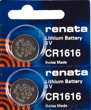 2 pc CR 1616 Renata Lithium Watch Batteries  FREE SHIP