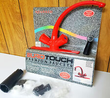 NOS Vintage RED AQUA TOUCH Eurotouch Kitchen Sink Spray Faucet 833 1994 Fashion