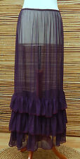 LAGENLOOK MAXI PETTICOAT UNDERSKIRT/DRESS*PURPLE*MADE IN ITALY WAIST UP TO 48""