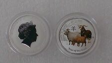 "Australian Lunar II ""Year of the Goat"", ( Coloured ) 2015, 1/2 Oz Silver coin"